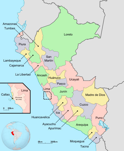 Departamentos de Perú