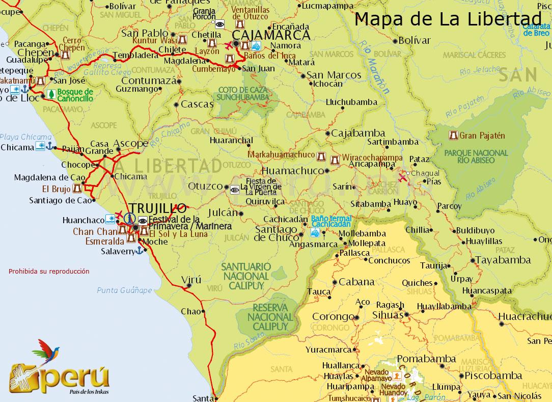Mapa de Trujillo