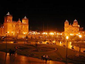 Plaza de Armas de Cusco de Noche