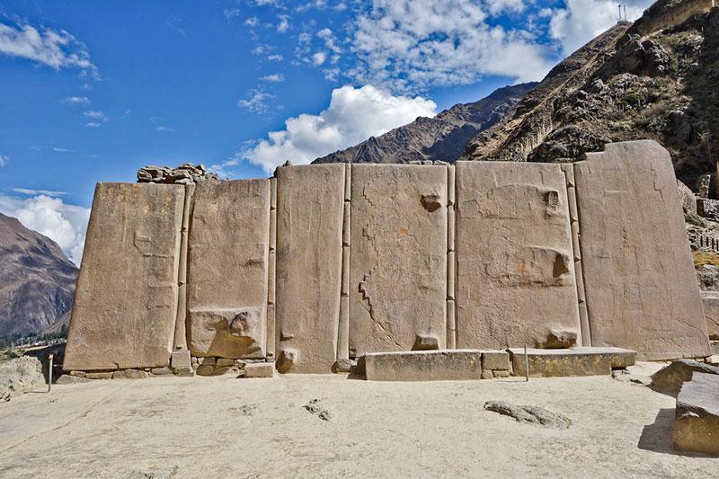 El Templo del Sol en Ollantaytambo